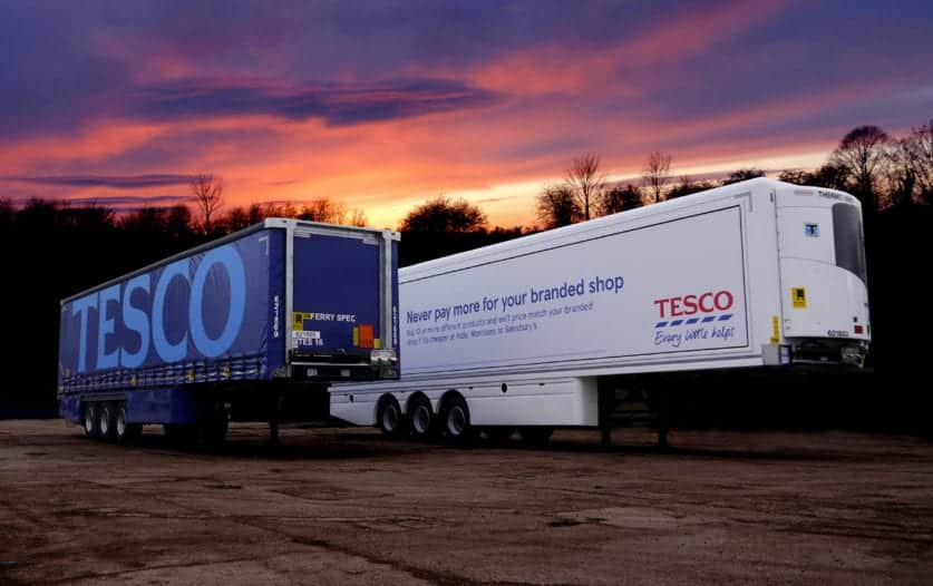 Tesco Curtainsider Trailers 2