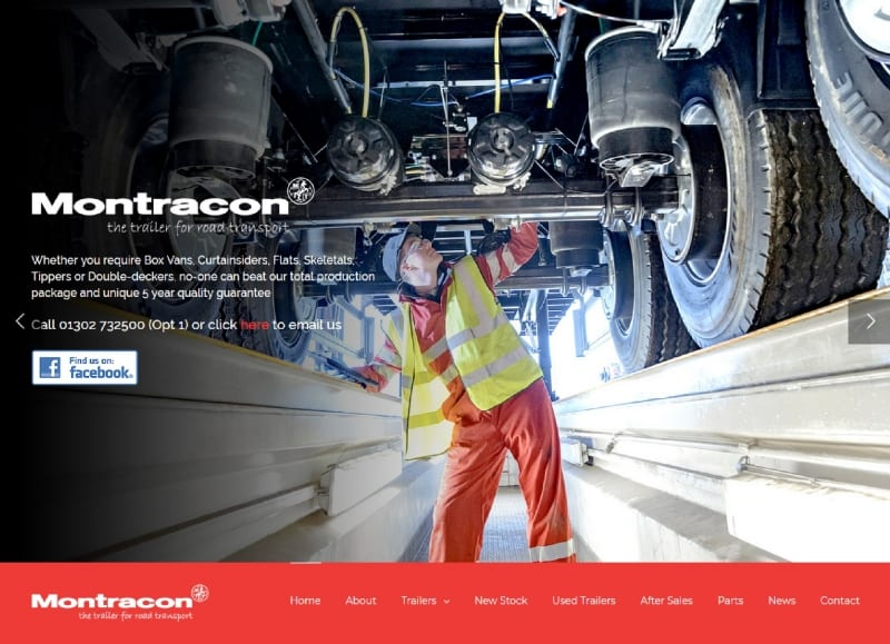 Montracon's new website