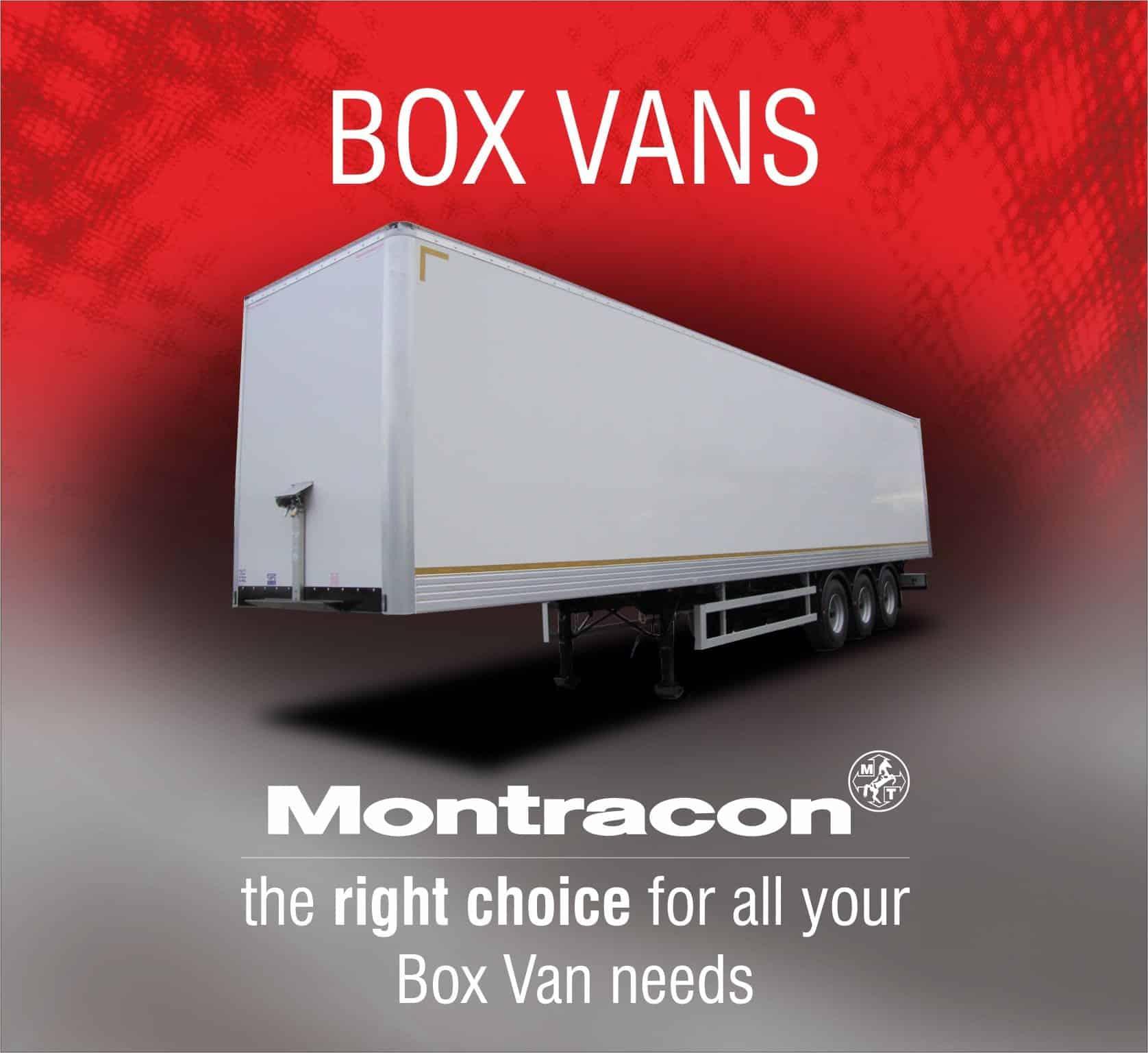 Montracon's box vans